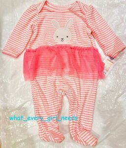 CARTERS Pink Bunny BODYSUIT TUTU 3M BABY GIRL Outfit NEW