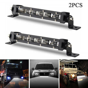 8-039-039-60W-Waterproof-CREE-Slim-LED-Light-Bar-Spotlight-Car-Offroad-Driving-Lamp-2X