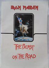 Iron Maiden 1982 The Beast on The Road Concert Tour Program Eddie Piece of Mind