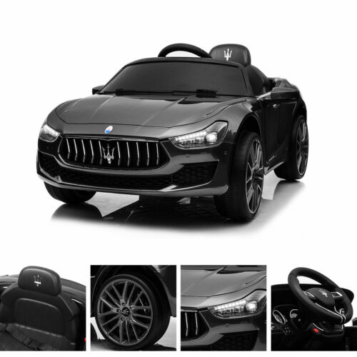 Maserati License Rechargeable 12V Luxury LED kids Ride On Car w//MP3 Remote Black