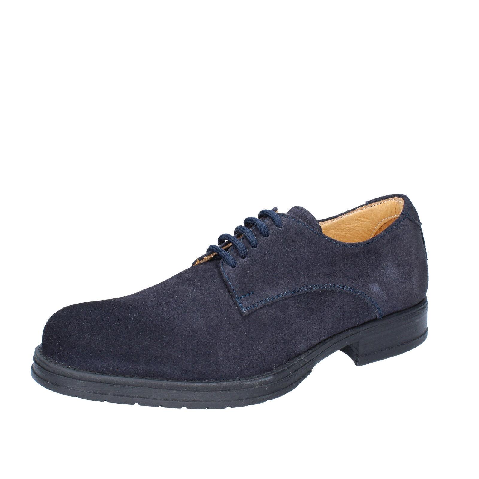 bz166 44 elegante Zapatos zapatos caballero gamuza azul de RL54A3j