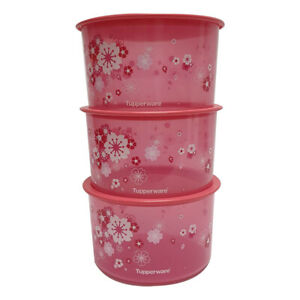 Tupperware-Liquid-Tight-amp-Airtight-Sakura-One-Touch-x-3-units-Free-Shipping
