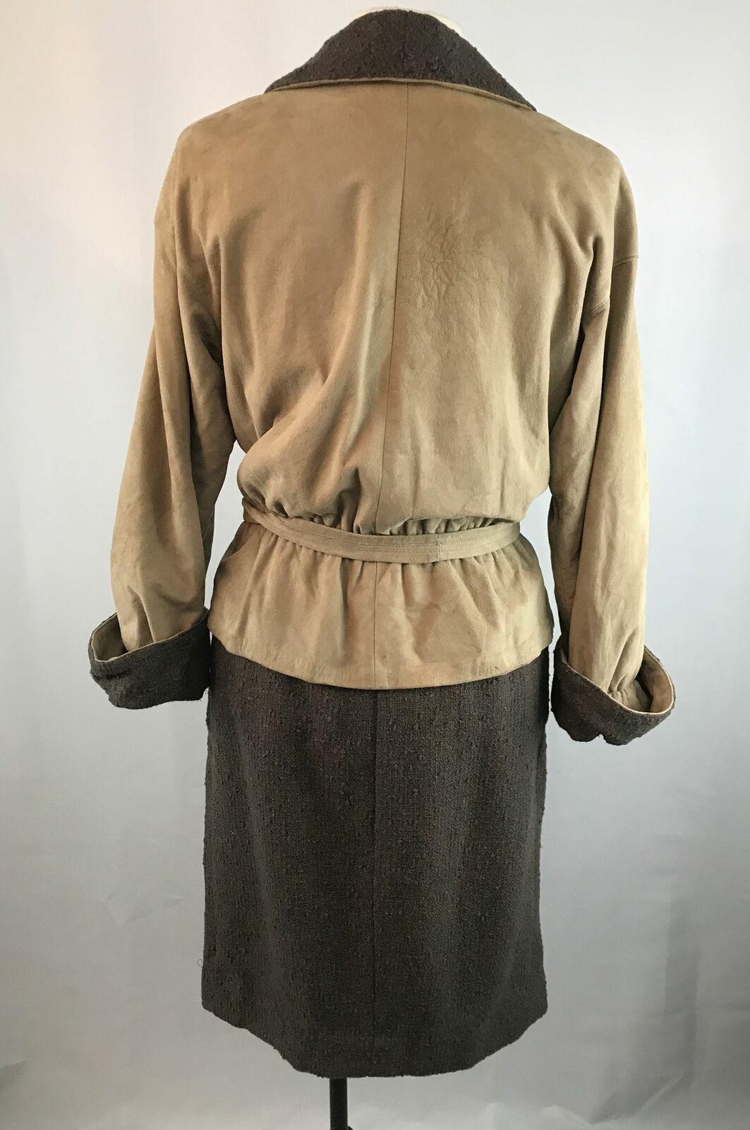 Vintage Bonnie Cashin Leather Jacket and Skirt Se… - image 4