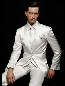 Image Is Loading 2017 White Men 039 S Wedding Suits Groom