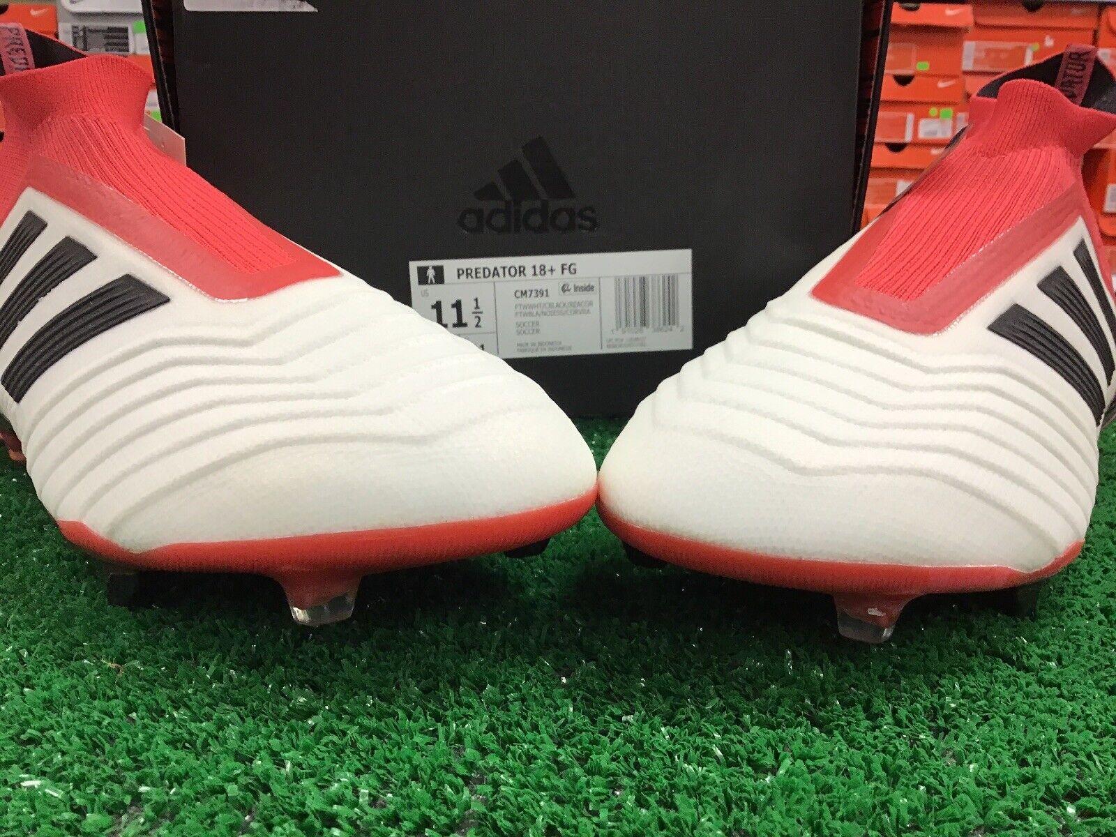 adidas Predator 18 FG Soccer No Lace