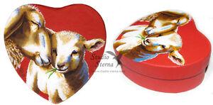 Hand-bemalte-Schachtel-Schafe-Kunst-Tier-hand-painted-box-red-sheep-animal-art