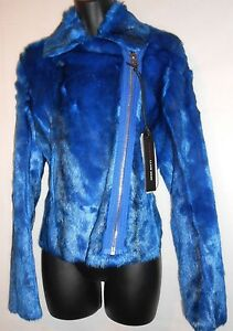 NEW-Miss-Sixty-Electric-Blue-Faux-Fur-Jacket-RRP-239