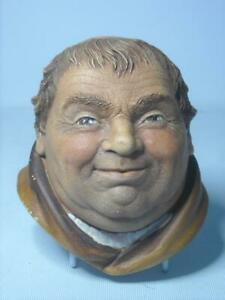 Legend-Products-FRIAR-TUCK-7-Photos-Plaster-Chalkware-Head-Wall-Plaque
