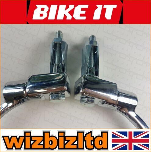 Bikeit Pair of Chrome Highway Universal Bar End Mounted Mirrors MRU021