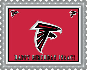 Image Is Loading Atlanta Falcons 1 Edible Birthday Cake Topper OR