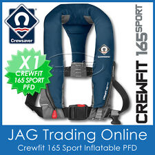 CREWSAVER CREWFIT 165 SPORT NAVY BLUE INFLATABLE PFD - MANUAL LIFE JACKET 165N