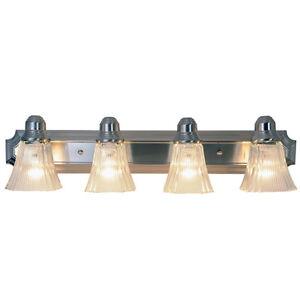 Decorative Vanity Light Bulbs : Monument Lighting 617036 30-Inch Decorative Vanity Fixture in Brushed Nickel eBay