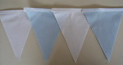 Fabric Bunting Uruguay Blue White football / Rugby Party Decoration  Gift 2 mtrs