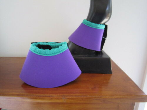 Horse Bell or overreach Boots Purple /& Emerald green  AUSTRALIAN MADE Protection