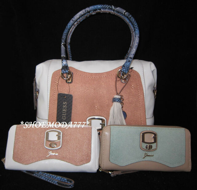 GUESS Coral Zip-Around Clutch Wallet Wristlet NWT