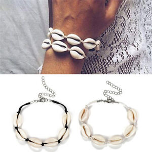 Fashion-Women-Beach-Shell-Conch-Braid-Bracelet-Adjust-Wristband-Anklet-Bangle