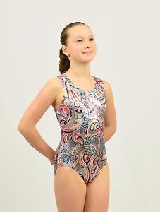 4dbca0d12 Gymnastics Leotard Intermediate Child(7-8 YEARS) multicolor foil ...