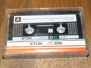Audiokassetten & Dats Tdk D90 Leerkassette Musikkassette Vintage Audio Tape Extrem Effizient In Der WäRmeerhaltung Audio-/video-leermedien