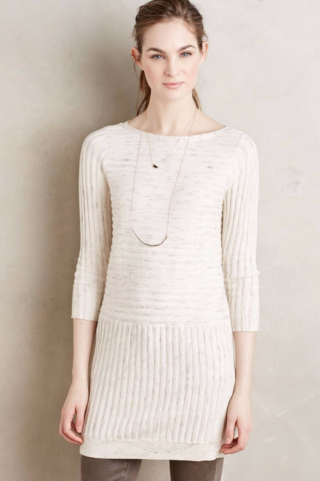 NWT Anthropologie Ribbed Sweater Tunic Size L