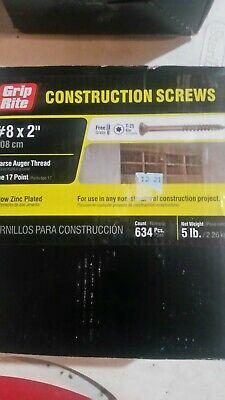 """Grip rite # 8x 2/"""" Construction Screws 5 pounds T25 Torx drive."""