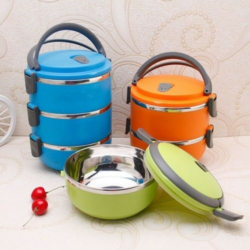 Gift Ideas! Stainless Steel 3 tier lunch box