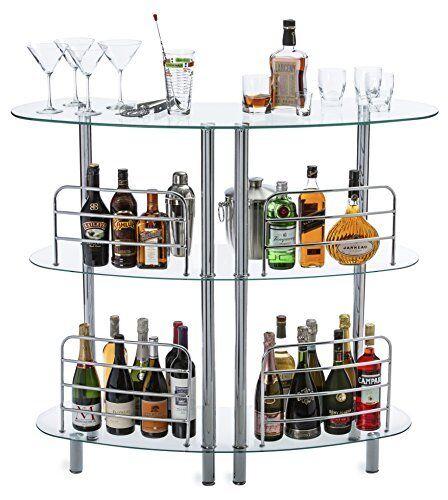 Mango à vapeur moderne contemporain Home Entertainment liqueur bar Catalina Table