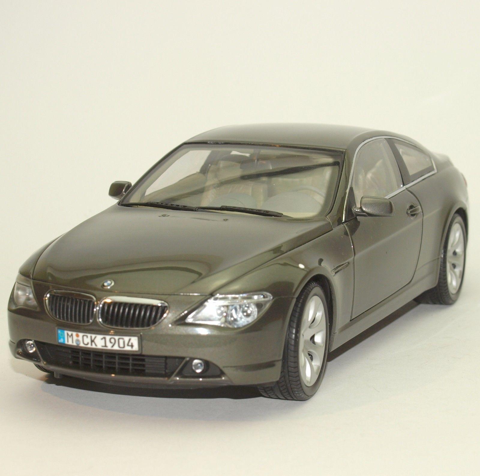 1/18 Kyosho BMW 645Ci 6er Coupé (metallic green/grey) Dealer Edition
