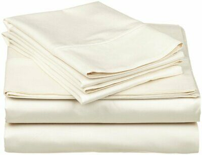 Extra Pocket 3 PCs Fitted Sheet 1000 TC 100/% Egyptian Cotton Taupe Solid