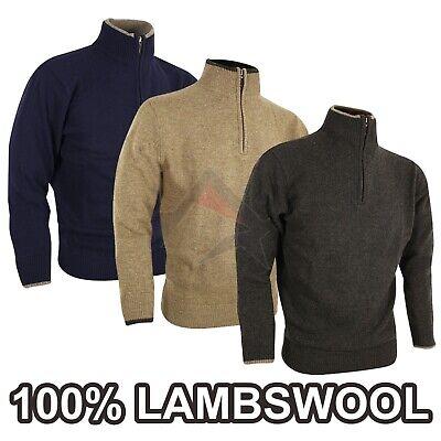 JACK PYKE ASHCOMBE 100/% LAMBSWOOL CREWKNIT JUMPER MENS S-3XL HUNTING SHOOTING