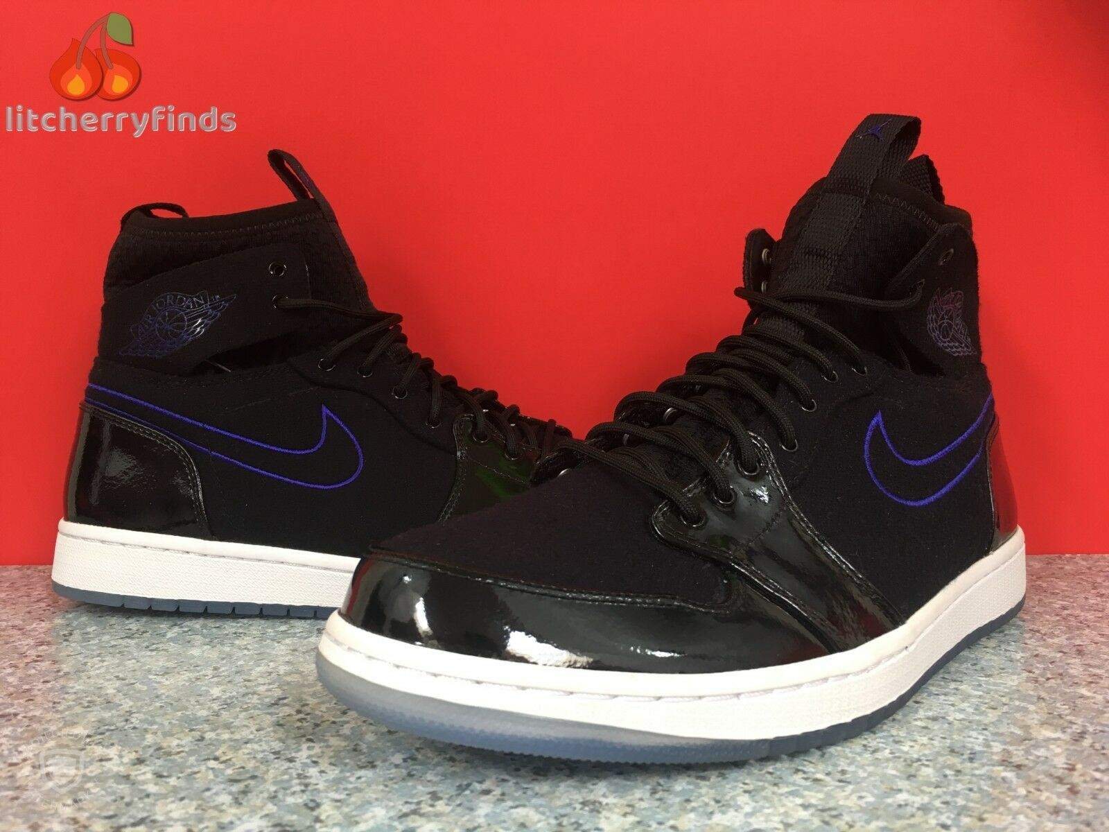 Nike air jordan 1 'ultra high dimensioni 10,5 space jam nero 844700-002 concord