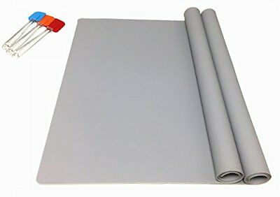 Ephome 2 Pack Xl Silicone Pastry Heat Resistant Table Mat