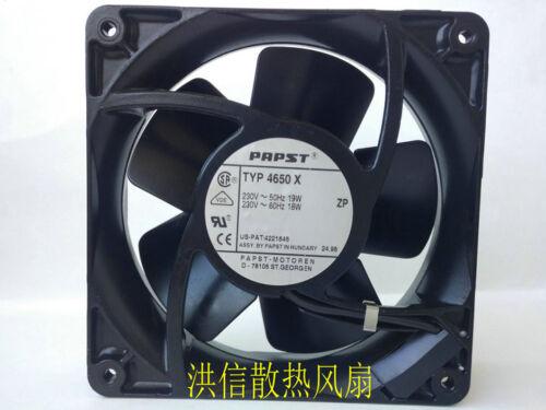 1pcs  PAPST all metal cooling fan TYP 4650 X 230V 50HZ 19W 60HZ 18W fan
