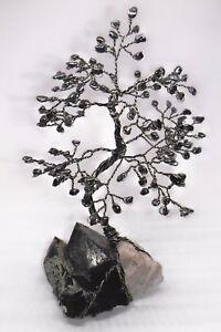 9-5-inch-gemstone-tree-HEMATITE-gem-tree-SMOKY-QUARTZ-crystal-healing-Feng-Shui
