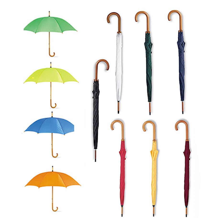 2 Hochzeit Klassisch Regenschirme Manuell Holzgriff 89cm Länge X 104cm Braut