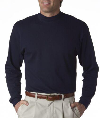 UltraClub Homme égyptien Interlock coton à manches longues faux col roulé 8510