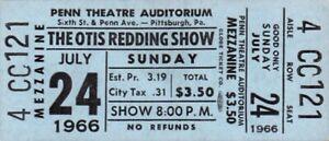 OTIS-REDDING-SAM-amp-DAVE-1966-TOUR-UNUSED-PITTSBURGH-PA-CONCERT-TICKET-NMT