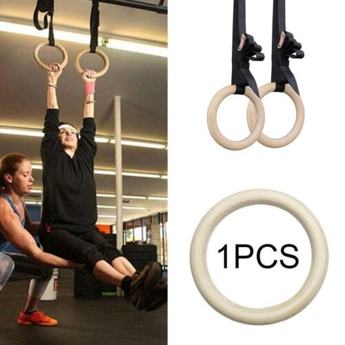 Wood Gymnastic Ring Strength Training Fitness Exercise Ring Adjustable Strap