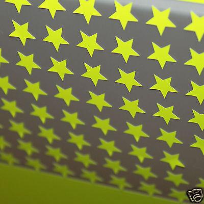 appliqué 30 étoiles 1cmFlex thermocollant ORANGE fluo