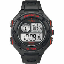 """Timex T49980, Men's """"Expedition"""" Black Resin Watch, Shock Resistant, Vibe Alarm"""