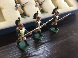 Regal Toy soldiers Napoleonic 5 French Dragoons advancing. 54 mm metal soldiers