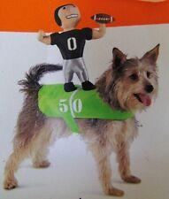FOOTBALL PLAYER DOG COSTUME Small Medium Sports Rider Stuffed Quarterback NEW