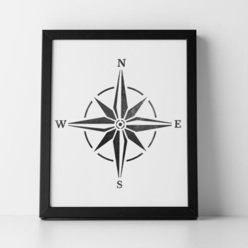 16.5 cm x 16.7 cm Reusable Compass Stencil Compass Rose Stencil