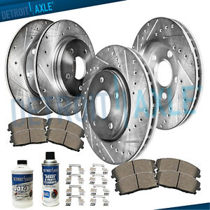 OE Replacement Rotors Ceramic Pads F 2002 2003 2004 Toyota Avalon