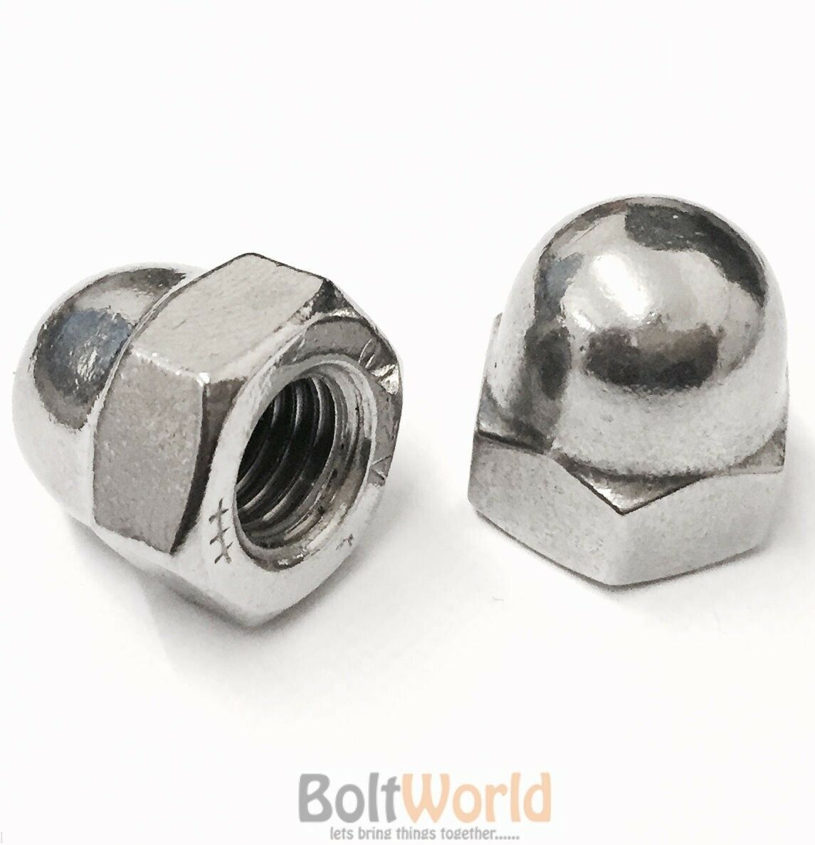 M18   18mm STAINLESS STEEL A2 DOME HEAD CUP NUTS FITS BOLTS SCREWS METRIC PITCH
