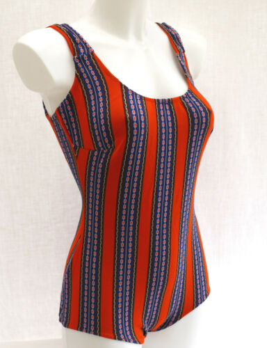 ORIGINAL 60/'s VINTAGE FITTED STYLE LADIES SWIMMING COSTUME SWIMSUIT 12-14 NEW