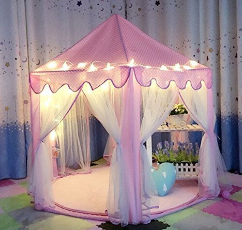 Pink Princess Castle Kids Play Tent Children Playhouse Indoor and Outdoor Use | eBay & Pink Princess Castle Kids Play Tent Children Playhouse Indoor and ...