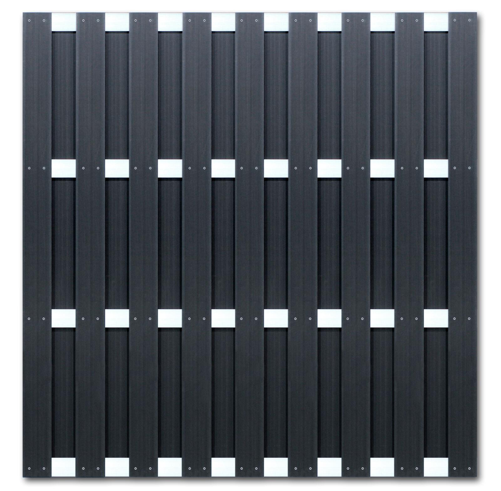 Wpc Ibiza Sichtschutz Zaun Element Gartenzaun 180 X 180 Cm