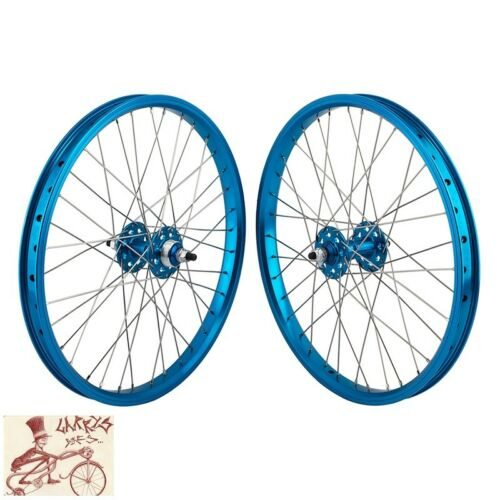 """SE Vélos Roue Libre 3//8/"""" essieux 20/"""" x 1.75/"""" Bleu Avant et Arrière Essieu"""
