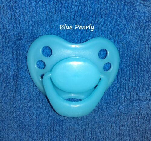 NEW Honeybug MAGNETIC PACIFIER reborn art doll baby newborn handle BLUE PEARLY