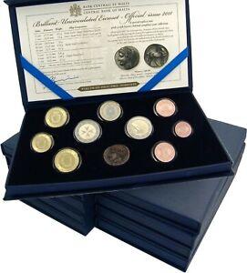 10-x-Malta-Euro-2011-KMS-1-Cent-bis-2-Euro-Wahl-Erster-Abgeordneter-im-Etui